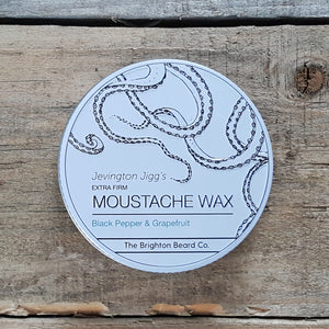 The Brighton Beard Company - Jevington Jigg's Extra Firm Moustache Wax, Black Pepper & Grapefruit