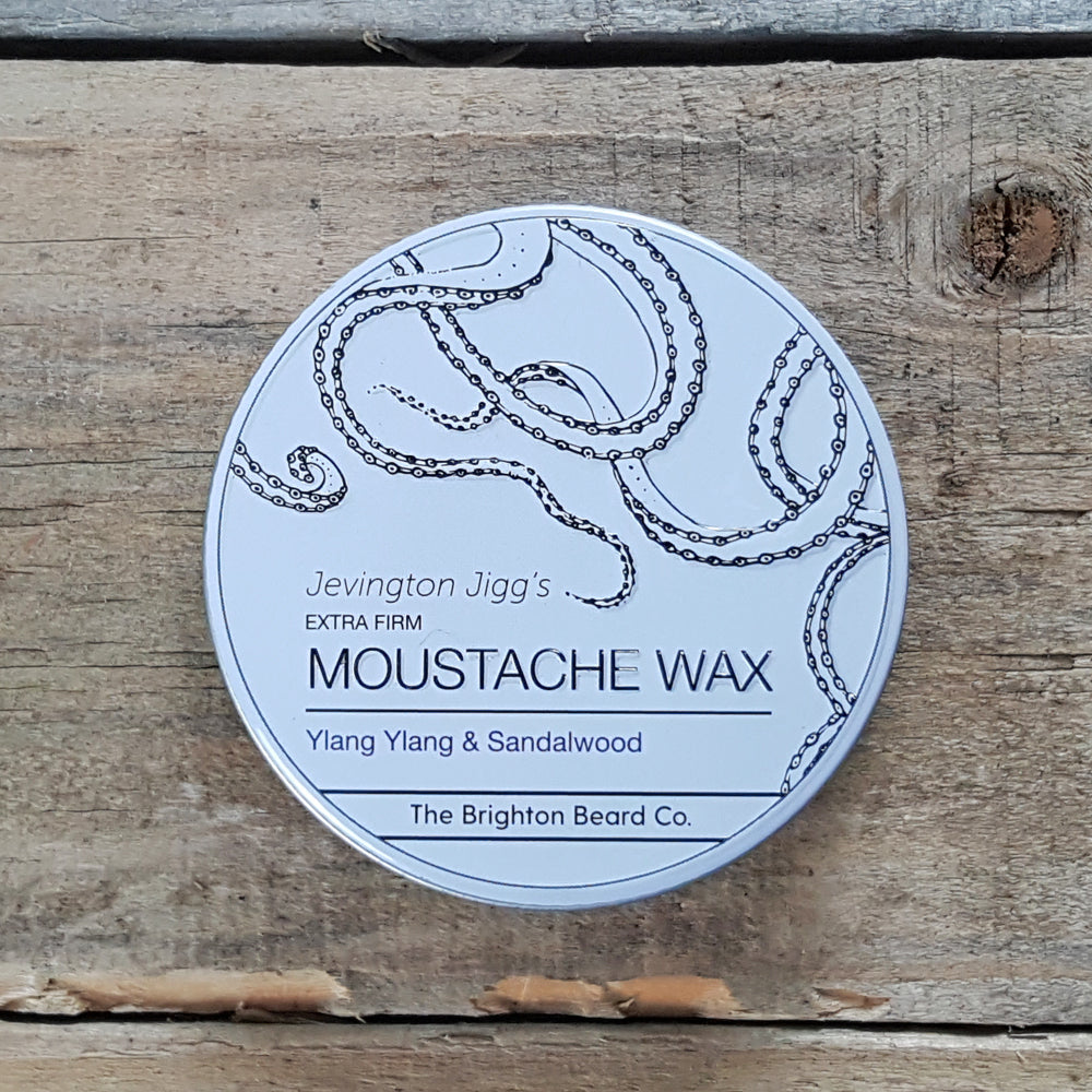 The Brighton Beard Company - Jevington Jigg's Extra Firm Moustache Wax, Ylang Ylang & Sandalwood