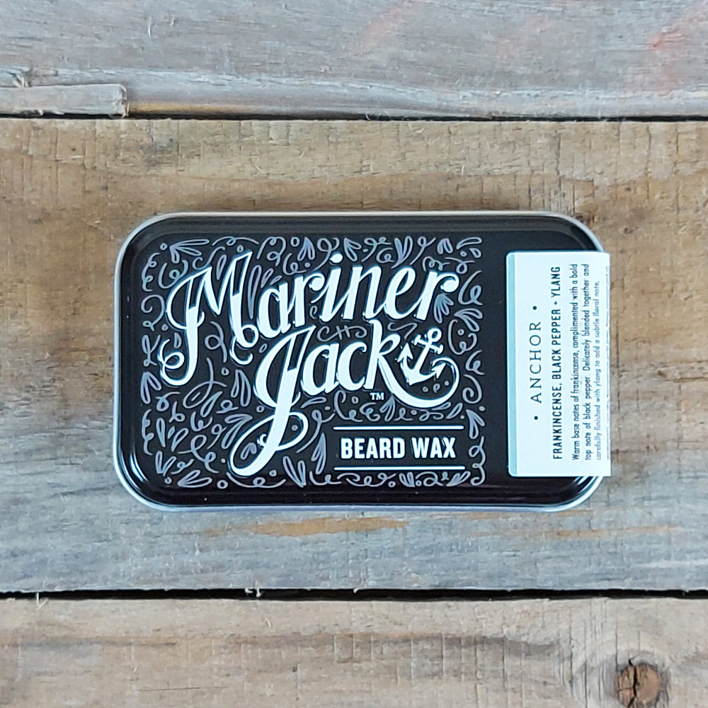 Mariner Jack - Anchor Beard & Moustache Wax, Frankincense, Black Pepper & Ylang