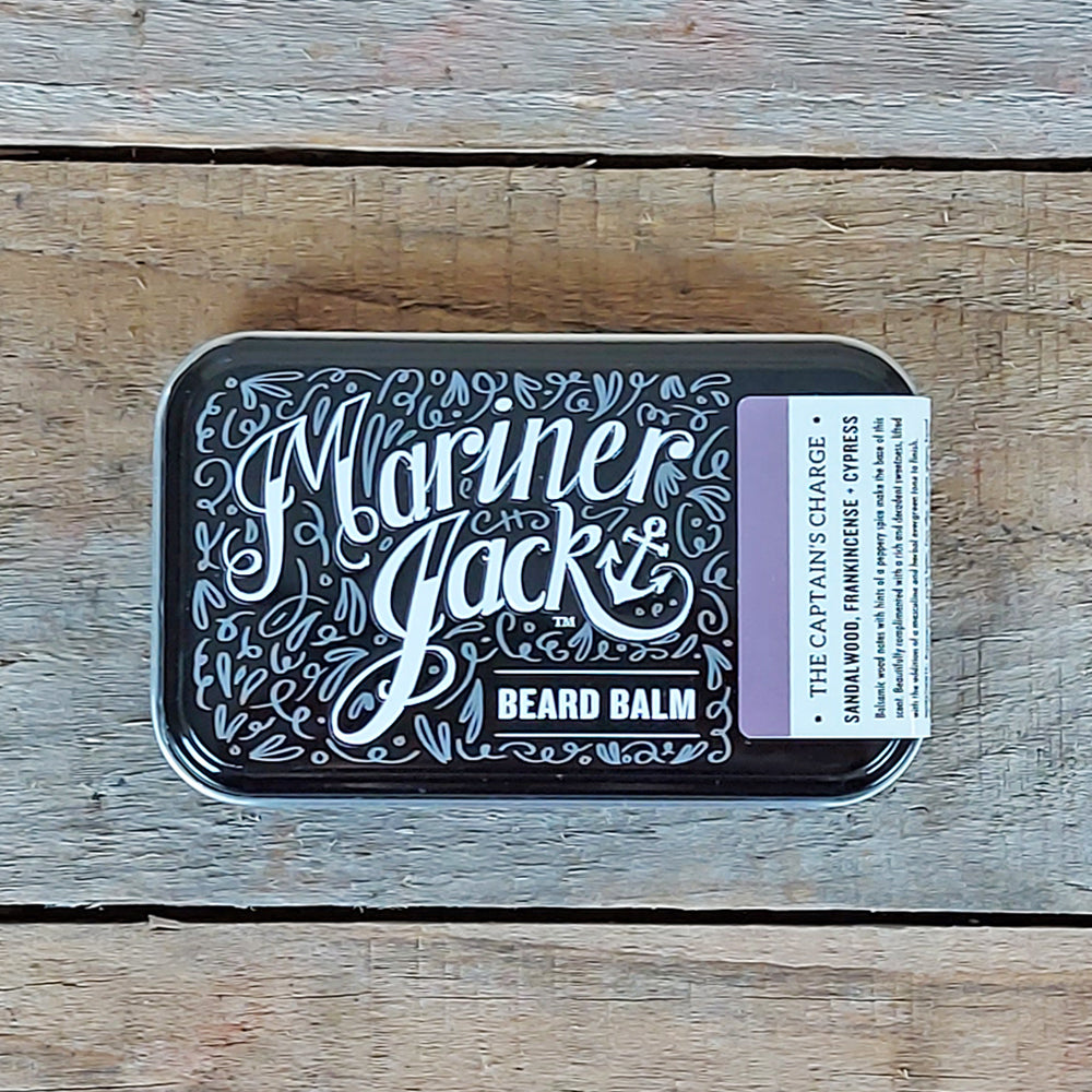Mariner Jack - The Captain's Charge Beard Balm, Sandalwood, Frankincense & Cypress