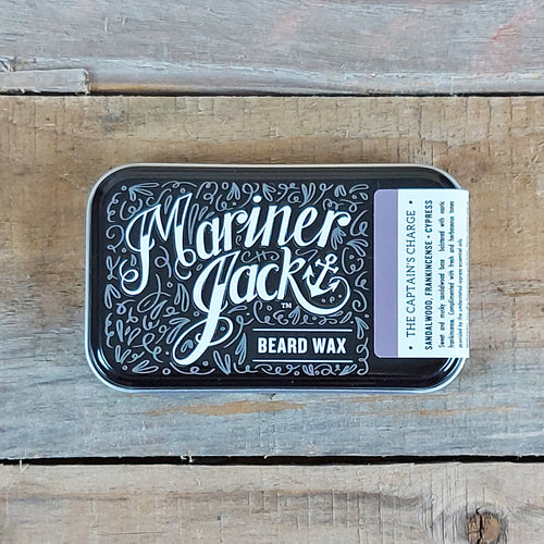 Mariner Jack - Captain's Charge Beard & Moustache Wax, Sandalwood, Frankincense & Cypress