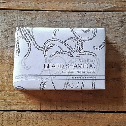 The Brighton Beard Company - The Miller's Beard Shampoo Bar, Sandalwood, Elemi & Lavender