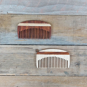The Wooden Tie Company - Small Fine Tooth Beard Comb