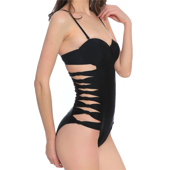 ONE PIECE CUT OUT SWIMSUIT - greenwichvillagegoods