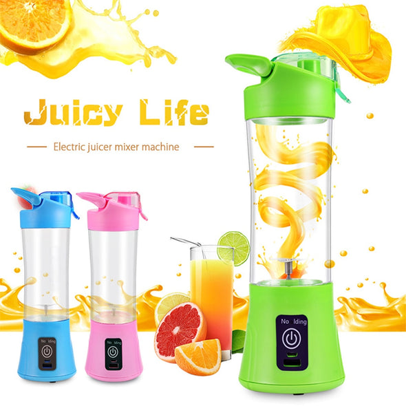 Portable Blender USB Rechargeable Single Serve Juicer Electric Maker Cup Fruit Mixing Crush Ice - greenwichvillagegoods