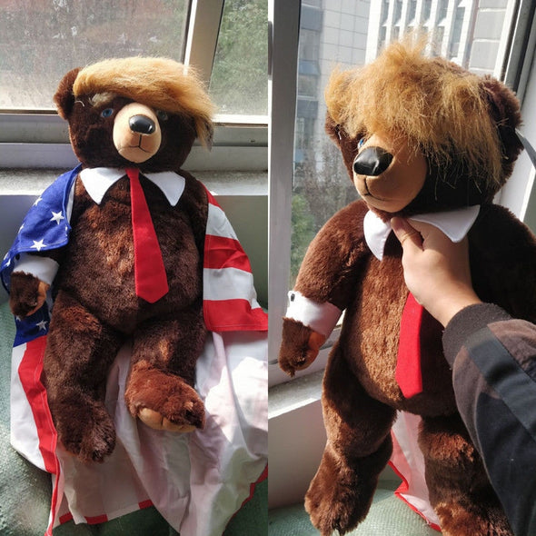 Brand New Donald Trump Bear Plush Toys Great Gift Made With Fabric And PP Cotton, 60cm - greenwichvillagegoods