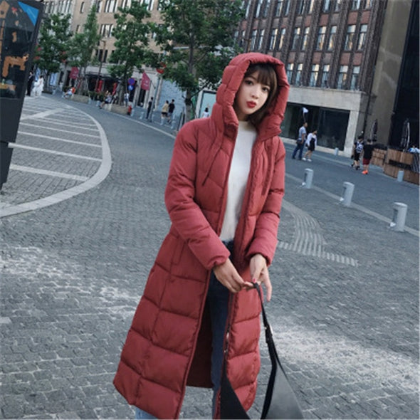 SNOW WEAR PLUS SIZE 6XL FAT WEAR WINTER COAT WOMEN FASHION HOODED THICKENING PARKA FEMALE X-LONG WINTER DOWN JACKET WOMEN - greenwichvillagegoods