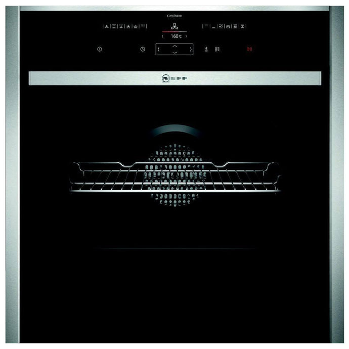 Neff B57CR22N1B Slide and Hide Pyrolytic Single Electric Oven, Stainless Steel - smartappliancesuk