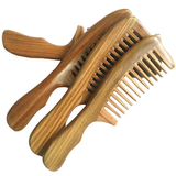 Handmade Fine Tooth No Static Green Sandalwood Pocket Hair Beard Mustache Comb