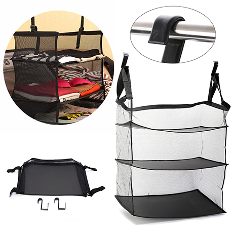 3 Tier Mesh Collapsible Hanging Organizer