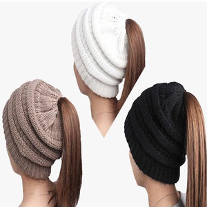 Pack of 3 Pretty Ponytail Hats