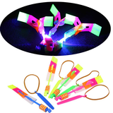 Arrow Helicopter Flying Toy with LED for Children Outdoor Entertainment  ( Pack of 3 )