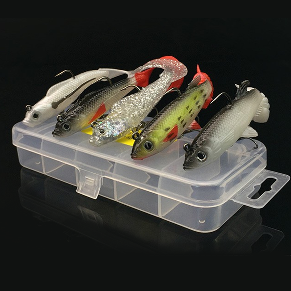 5pc Soft Fishing Bait Lure Set