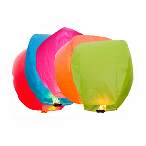 10 or 20 Pack Chinese Sky Fly Fire Lanterns