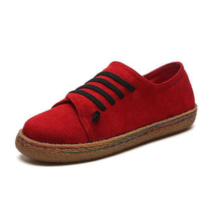 Suede Slip On Soft Loafers For Women