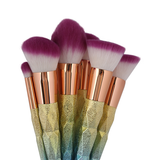 10 Piece Magical Rainbow Makeup Brush Set