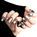 Black Rose Transparent Nails
