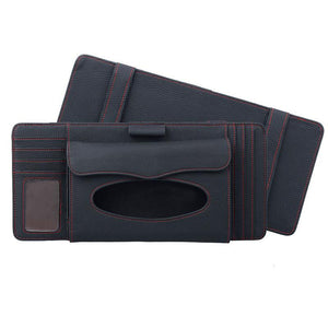 Car Visor Clip-On Tissue Box and Organizer