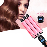 LCD Display Ceramic Triple Barrel Curling Iron [BEST SELLER]