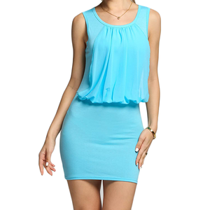 Mini Chiffon Sleeveless Tunic Dress