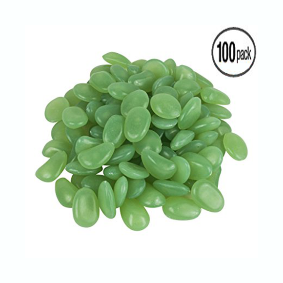 100-Pack: Glow in the Dark Garden Pebbles