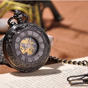 Black Vine Pocket Watch