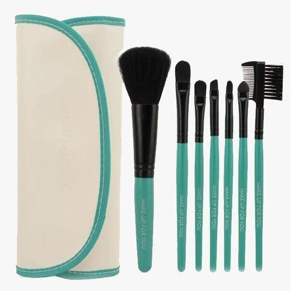 7 Piece Brush Set White and Green