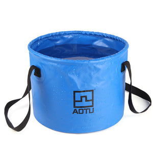 Aotu Collapsible Bucket Multifunctional Folding Bucket For Camping Hiking Live Fishing Water Storage Pesca tools