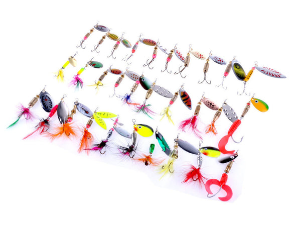 30pcs Artificial Fishing Lure Fishing tackle Minnow fishing Lures Swimbaits Jig Head Soft Lure Fly Fishing Bait Pesca