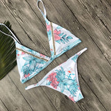 Dropshipping Beachwear 2017 New Swimming suit for women Brazilian Bikini set Print Swimwear Female Push-up Swimsuit wholesale #E