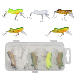5pc road sub-bait bionic cricket series hooks insectCrank Bait Hooks Fish Tackle Segment Swimbait Crankbait Hard Bait Pesca
