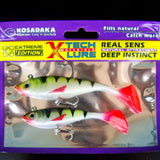 MUQGEW 2pc fishing tackle soft bait light lead fishing artificial bait jig wobbler #S0