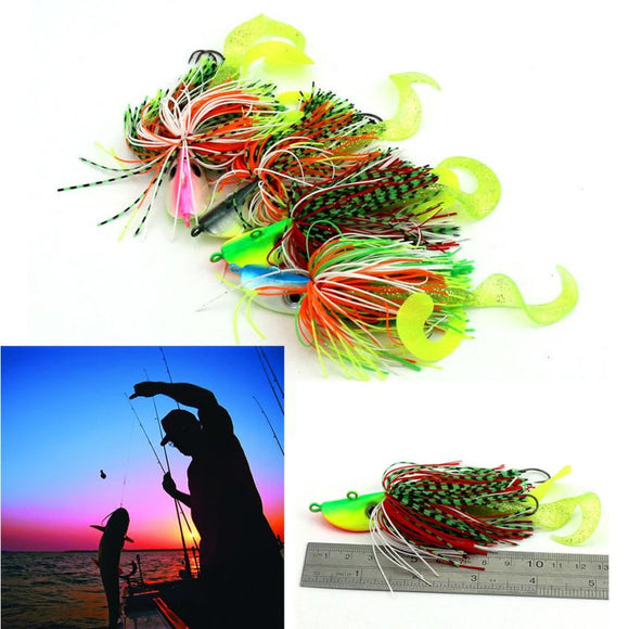 MUQGEW  2pc Mixed Large Metal Lead Head Jigs Fishing Bait Ink Fish Hook Professional Baits #EW