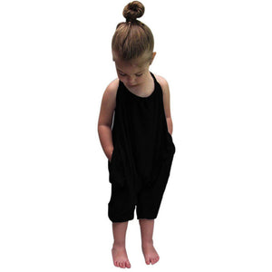 Kid Baby Girls Straps Rompers Jumpsuits Piece Pants Clothing Toddler drop shipping girls clothing
