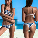 Women Sexy Bikini Push-up Padded Bra Swimsuit Bathing Set  Beach Swimwear