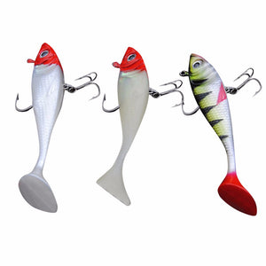 2017 Two Different Size 3pcs/Lot Plastic Popper Fishing Lures Bass Crank baits Tackle 10cm/8cm 19g #EW