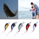 5 Pcs 4.5cm Plastic Enviropaints Useful Outdoor Swimbait Twitching Minnow Crank Fishing Lures Bait With Hooks Cords With Box #EW