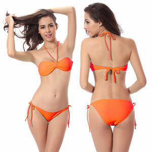 Sexy Women Bikini Swimsuit Set Two Pieces Swimwear with Padding Beach Wear