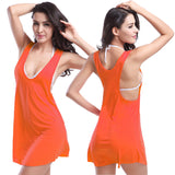Sexy Women Beach Bikini Outside Smock Seaside Holiday Vest Skirt One piece
