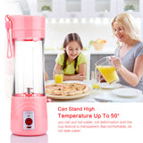 ABEDOE 380ml USB Rechargeable Electric Fruit Juicer Cup Blender Fruit Vegetable Tool Home Garden Kitchen Tools for Superb Mixing