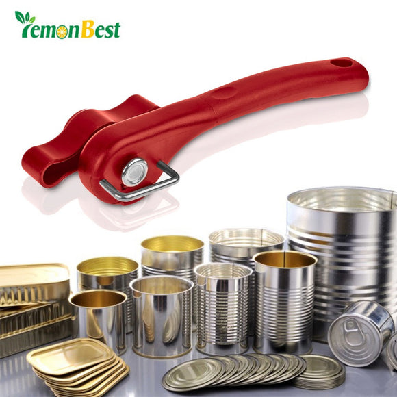 New Arrival Smooth Edge Can Opener Professional Effortless Manual Handy Stainless Steel with Easy Turn Knob  convenient kitchen