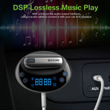 Bluetooth MP3 Player FM Transmitter Modulator Car Charger with  Dual USB 3.1A Earphone Hands-free Call AUX TF Private Talking LED Display Voltage FM Frequency