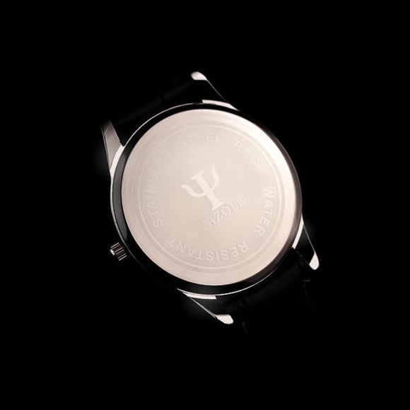 Luxury Fashion Leather Mens Glass Quartz Analog Wristwatch Noctilucent Watches