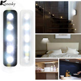 Mini Wireless 5 LED Night Lights Closet Lamp Wireless Wall Light Battery Home Lighting For Under Kitchen Cabinets