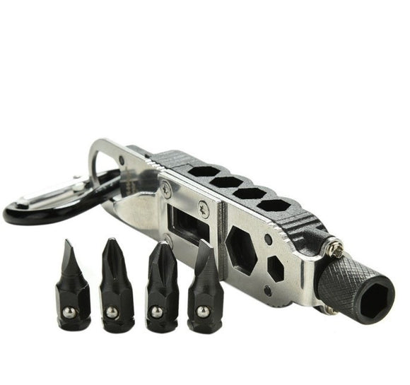 EDC Survival Gear With LED Light Multi-Tool Outdoor Tools