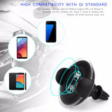 Powstro Car Wireless Charger Car Mount Air Vent Mobile Phone Holder Adapter Universal Charging Pad For Samsung Galaxy Note 5