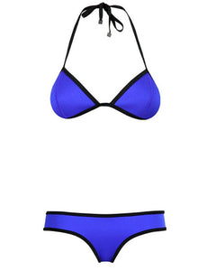 Fashion Women's Ladies Sexy Two Piece Bra Bikini Swimwear Swimsuit Bathing Suit