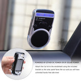 Vingtank Universal Solar Car Bluetooth Speakerphone Hands-free Sunvisor Speaker usb Car Charger Speaker for iPhone LCD display