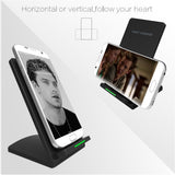 QI Wireless Phone Charger Holder Mount Charging Stand 2-Coils Fast Charge for Qi Enabled Devices for Samsung Galaxy S7 S6 Edge