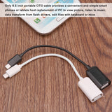 FORNORM OTG Cable Micro USB to USB 3.1 Adapter Micro USB Male to USB Female for Android Phone Samsung Tablet PC